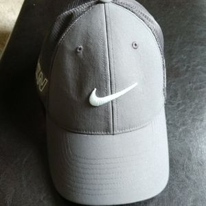 Grey Nike Golf Flex Fit hat